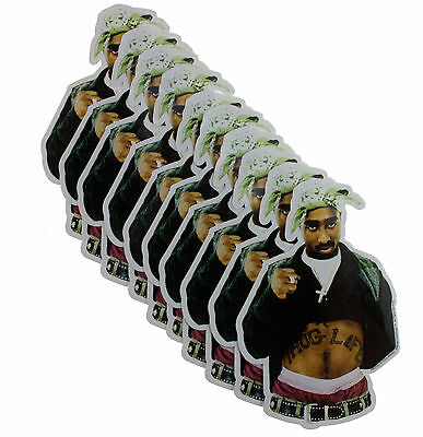 10 x 2Pac Thug Life Cut Out Official Vinyl Stickers Wholesale