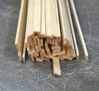 "Balsa Wood Strips 1.5mm - 6.5mm Select Size 45 Per Pack 12"" Long"