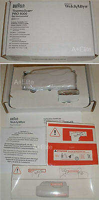 Welch Allyn BRAUN THERMOSCAN PRO 6000 Ear Thermometer W/ Small Cradle (New 4000)