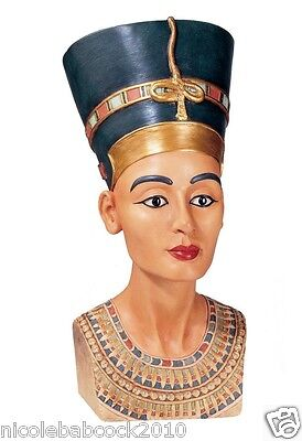 "ANCIENT EGYPTIAN ROYAL QUEEN SCULPTURAL BUST ""Empress of the Mediterranean"""