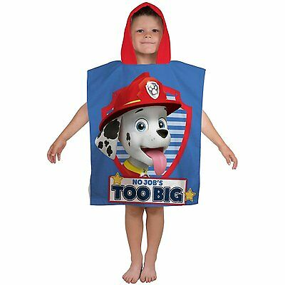 Boys Official PAW Patrol Martial Summer Swimming Beach Hooded Towel Poncho