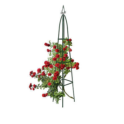Garden Trellis Obelisk Column Growth Frame Pointy Top 2m Climbing Plant Support
