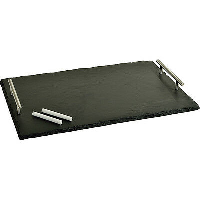 Picnic at Ascot Sardo Slate Cheese Board with Soapstone Outdoor Accessorie NEW