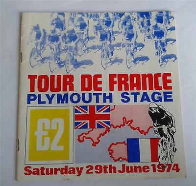 ORIGINAL 1974 TOUR DE FRANCE PLYMOUTH STAGE PROGRAMME 1st EVER BRITISH STAGE