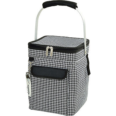 Picnic at Ascot 4 Bottle Insulated Wine Tote- Outdoor Cooler NEW