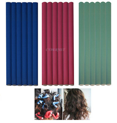 24 Bendy Hair Rollers Hairdressing Soft Foam Hair Dresser Salon Curlers Twist