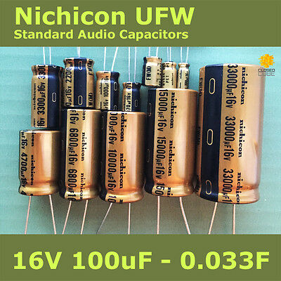 Nichicon UFW FW Standard for Audio [16V] Capacitors