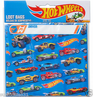 Hot Wheels Wild Racer Treat Loot Bags 8pcs Party Favors Supplies