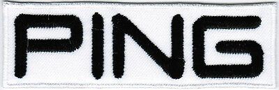 Ping Golf WHITE Badge PGA Embroidered Patch