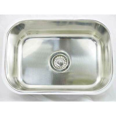 Stainless Steel Laundry Single BOWL Inset Sink Kitchen BAR TUB CM7 30L  530x380