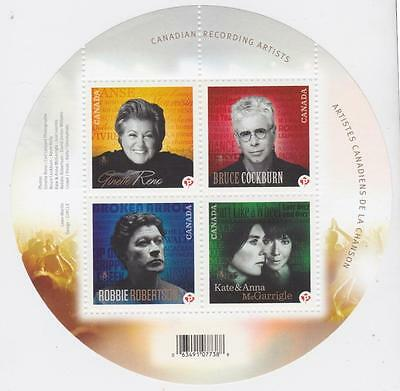 CANADA 2011 Souvenir Sheet #2482b Canadian Recording Artists MNH