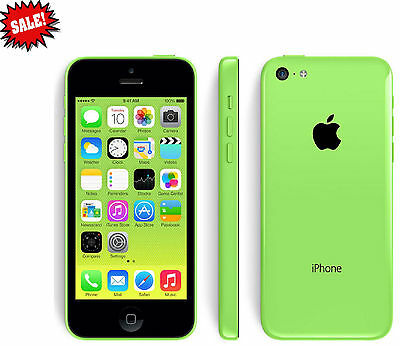New Apple iPhone 5C 16GB Green AT&T Factory GSM Unlocked 4G LTE Smartphone