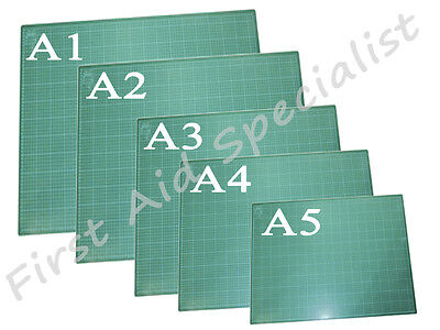 A1 A2 A3 A4 A5 Cutting Mat Printed Grid Lines Craft Board Non Slip