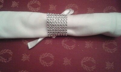 Christmas Wedding Napkin Rings Special Occasion, Party X 6 Silver,