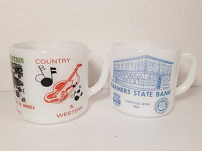 2 Extremely Rare Vintage Federal Collector Coffee Mugs.