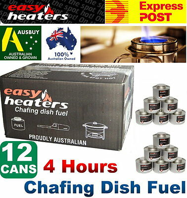 Easy Heater 4hrs x 12 Cans Chafing Dish Fuel - Heating Warming Food Buffet