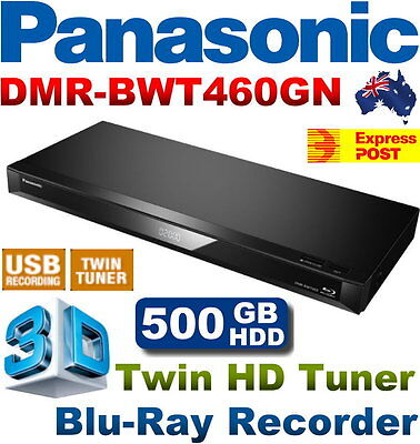 Panasonic 3D Blu-Ray DVD Recorder 500GB w/ Twin HD Tuner DMR-BWT460GN Express