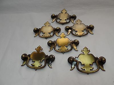 6 Vintage Drawer Pulls Chippendale Style