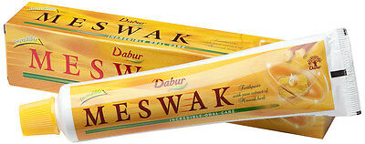 2 x Dabur Meswak Herbal Toothpaste - Healthy Gums & Awesome Mouth Feel - 200gm
