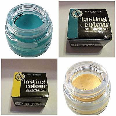 Collection 2000  Lasting Colour Ultra Smooth Gel Eyeliner Gold or Teal