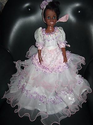 Ideal Crissy Tressy Doll Lace & Frills Dress Gorgeous!! No doll.