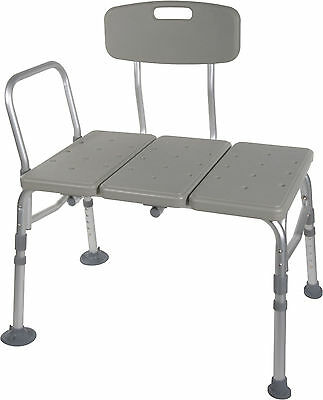 2- NEW Drive Medical Plastic Transfer Benches with 3 Position Backrest 12011KD-2