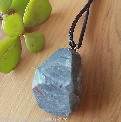 Bloodstone Crystal Healing Natural Rough Raw Stone Gemstone Pendant Necklace