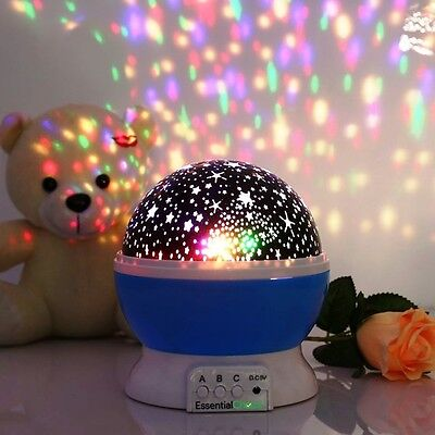 Kids Nightlight Star Projector Kid Bedtime Night Light Starprojector Moon Sky