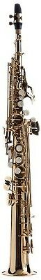Fever Soprano Straight Saxophone Gold with Case, WALSOP. Huge Saving