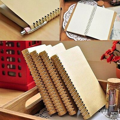 Spiral Coil Pocket Notebook Sketchbook Diary Journal Student Note Pad Book #AU