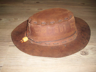 TRUE VINTAGE Levis Children´s Leather Hat From The 1970´s RARE