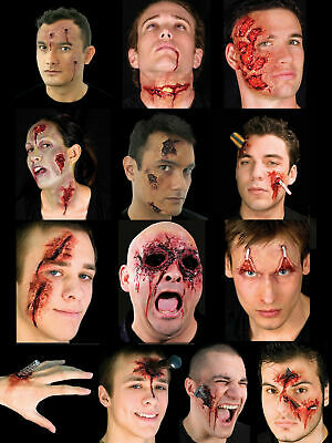 Halloween Woochie Latex Kit Prosthetic Zombie Vampire Burn Injury Wound Make Up