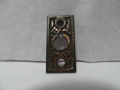 Vintage Ornate Key Hole Back Plate Brass