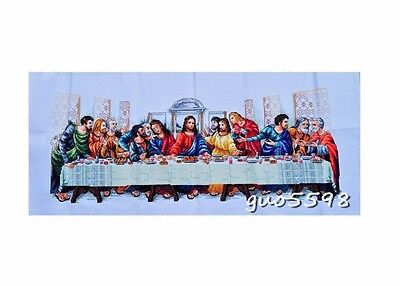 """LUXURY New Finished Cross Stitch Needlepoint""""Last Supper""""Home Decor"""