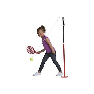 Backyard Tennis Height Adjustable Trainer Totem Tennis Ball Racquet Hook String
