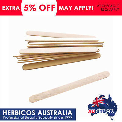 2 x 50pcs Disposable Wooden Spatula for Depilatory Waxing Salon Size Medium