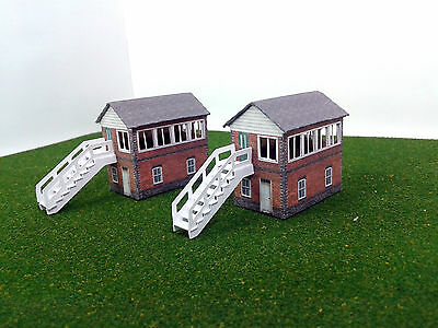 Z Scale Building (2 pcs) - Signal Box - Interlocking Tower - Card Stock Kit