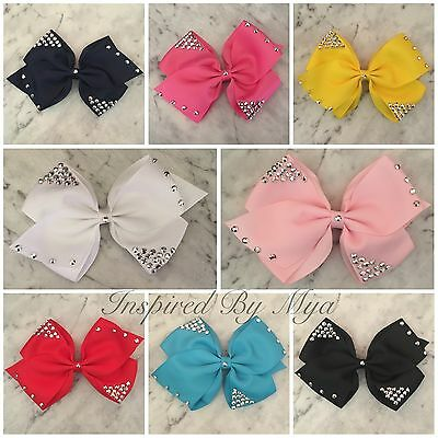 Girls Large Bow Hair Clip Large Bow Bling School Dance Party Accessory