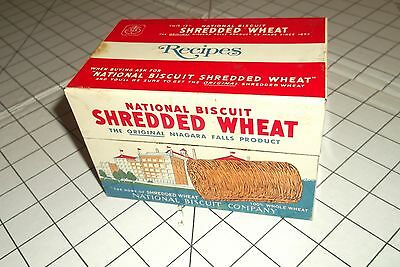 Vintage Nabisco Tin Recipe Box 1973 National Biscuit Shredded Wheat