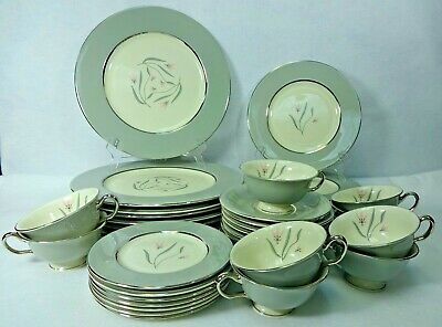 CASTLETON china FLAIR pattern 41-piece SET SERVICE for Eight (8)
