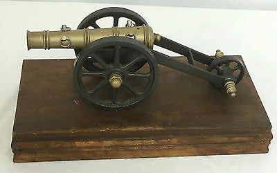 Vintage Large Metal Artillery Cannon Display