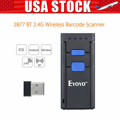 MJ2877 Wireless Bluetooth Barcode Scanner Laser Code Reader For Android Iphone