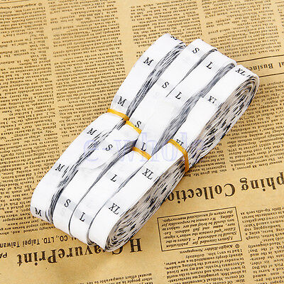 500/Roll Sew On Size Label Garment Sizing Tag Clothing Sewing Accessories  WS