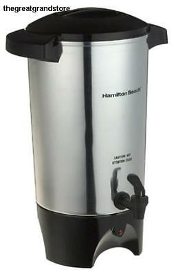 Commercial Coffee Dispenser Maker Urn Big Silver Office Restaurant Large Brewer
