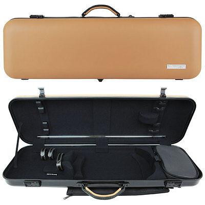 GEWA Air Prestige Oblong Violin Case for 4/4 Full Size Violin Cappuccino