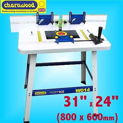 Charnwood W014 1/4 1/2 Router Table with 3 Featherboards routing carving