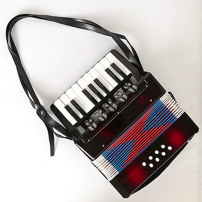 Black Kids Instrument Music Accordion Button Piano Toys Great Gift For Children