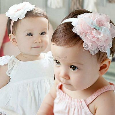 Baby Girl Flower Headband Elastic Hair Bow Band Party Hairband Accessories