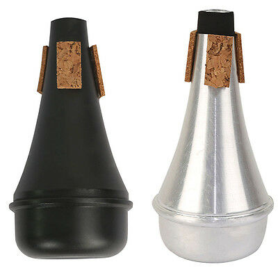 Practice Trumpet Straight Cup Mute Beginner Silencer ABS Black/Aluminum Alloy
