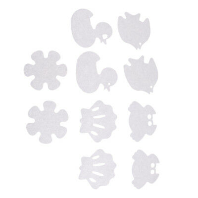 10Pcs Cartoon Tub Treads Non Slip Bath Tub Safety Sticker Appliques-Clear